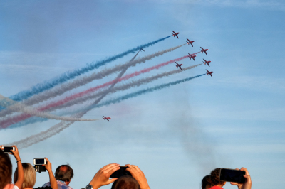 Sidmouth meets the Red Arrows