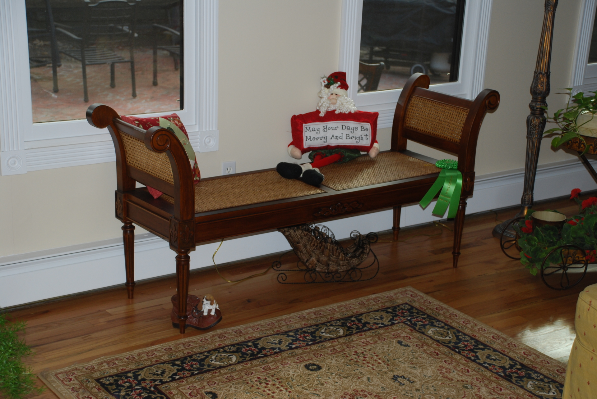 Hand-made French Provincial settee; received Judge's Commendation from Long Island Woodworker's annual show