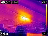 Infrared Image of heat loss into a garage space.