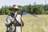 Scythe. farming, mowing,