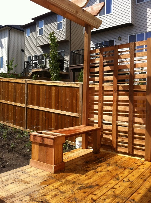 Calgary cedar deck and privacy