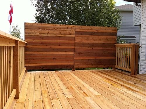 Cedar deck screens