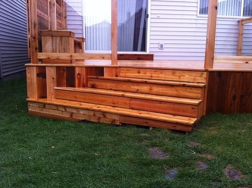 Angled Cedar Staircase