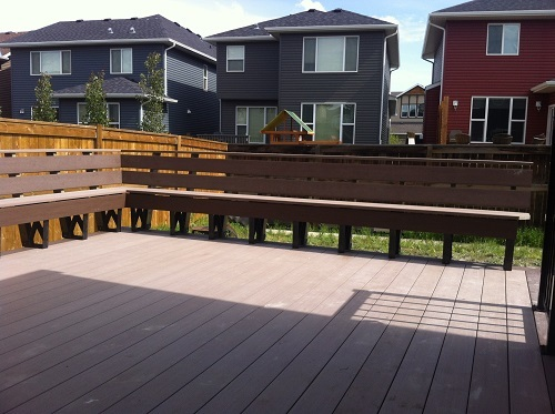 Composite deck and bench