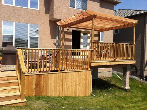 Calgary Cedar deck and pergola