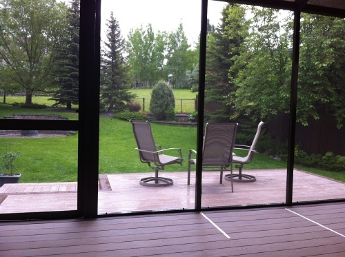 Calgary Deck enclosure