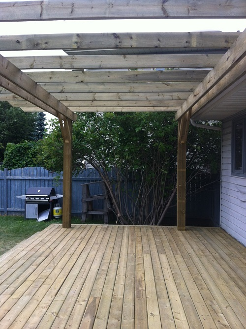 Treated Calgary deck and pergola