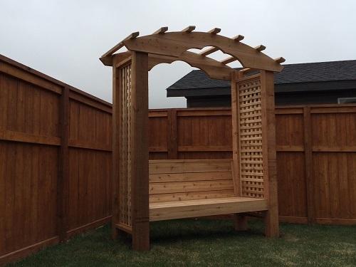 Custom Cedar Bench