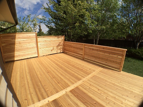 Full cedar deck design Calgary