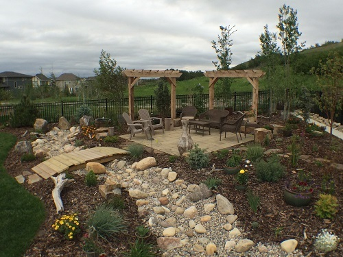 Full backyard design Calgary