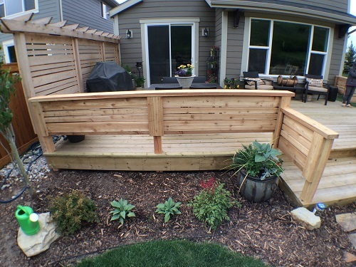Calgary wood deck railing