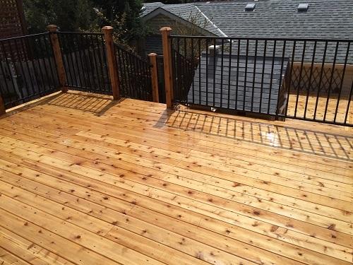 Cedar deck Calgary