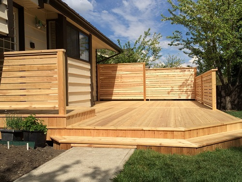 Complete Calgary cedar deck
