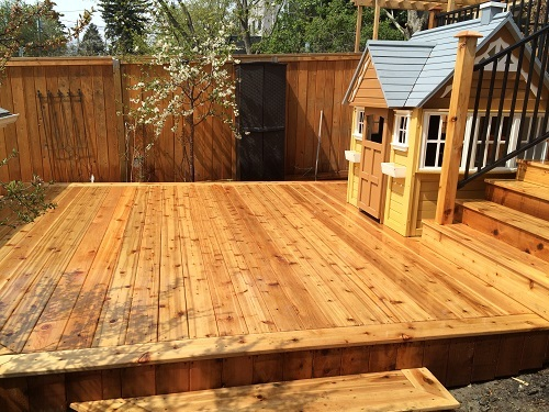 Lower level Cedar Deck