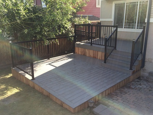 Two tier deck and skirting