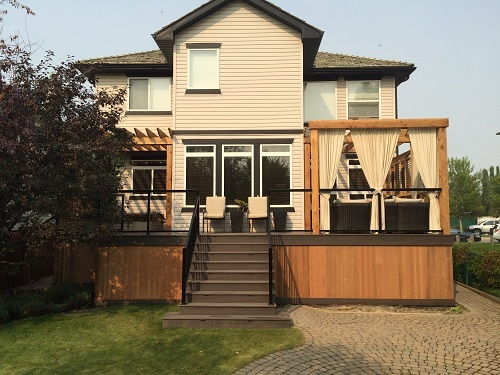 Full Cedar Deck Designs