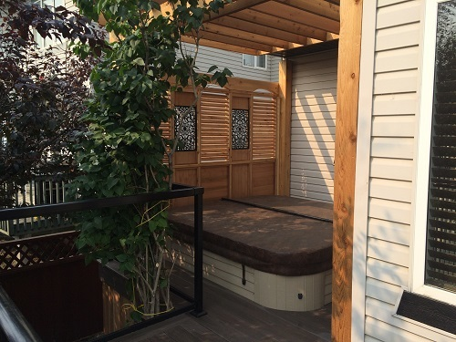 Hot tub deck designs
