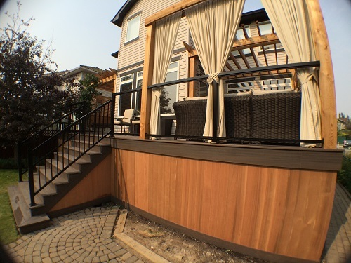 Cedar Deck with Outdoor Living Space