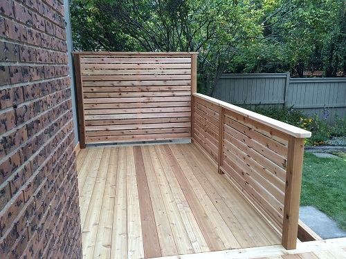 Calgary Cedar Privacy Screen and Railing