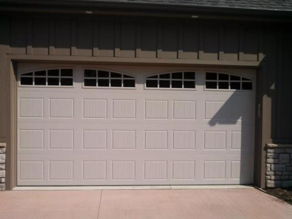 Sandtone garage door