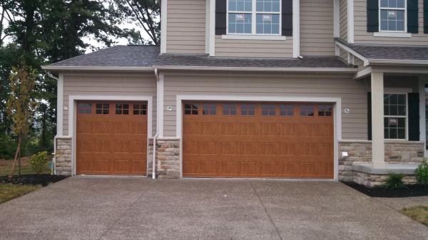 Walnut Garage Door