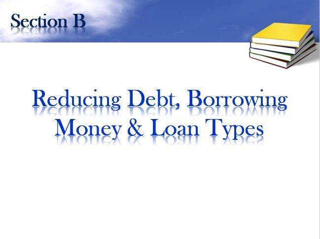 Reducing Debt, Borrowing Money & Loan Types