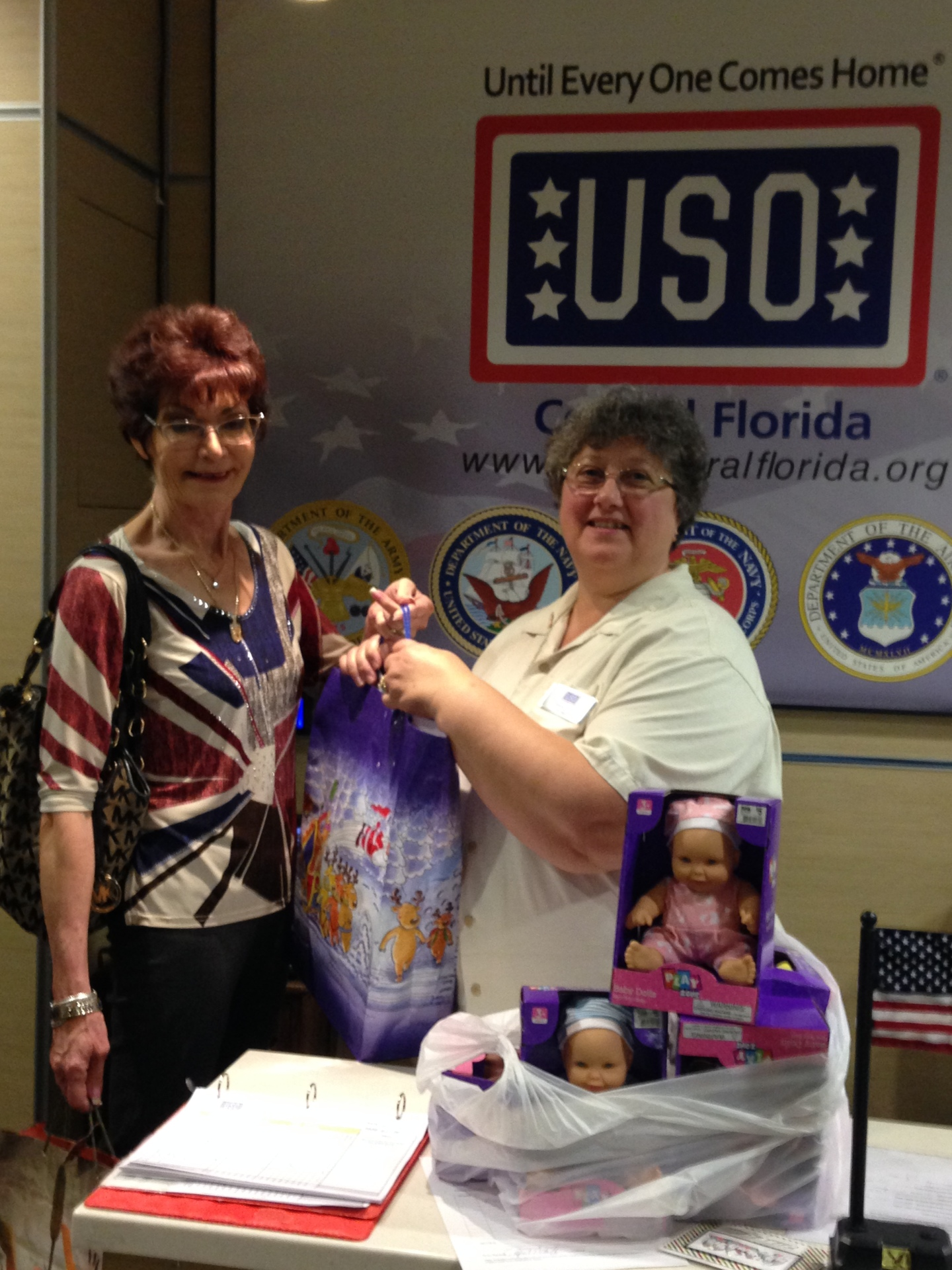 Our donation to the USO!