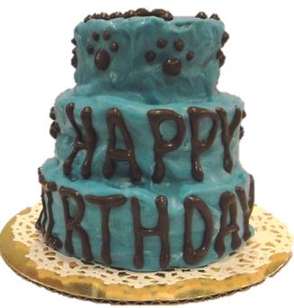 3-Tier Blue Cake