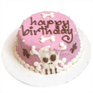CUSTOM Pink Skull Cake