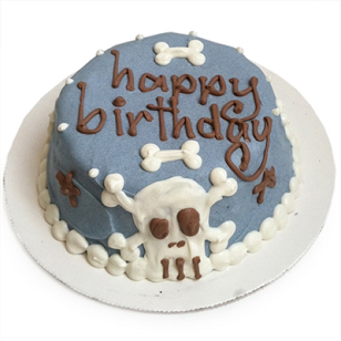 CUSTOM Blue Skull Cake