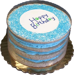 ORDER ONLY Blue tiered cake