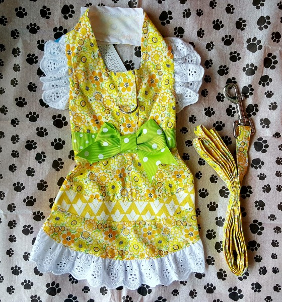 Yellow Floral and Lace Dress