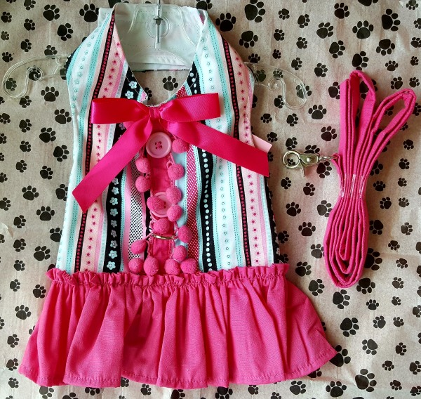 Pink Stripe Harness Dress