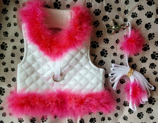 Pink Feathered Diva Harness