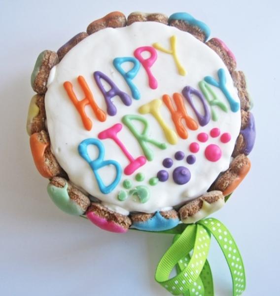 Colorful Bone Circle Cake