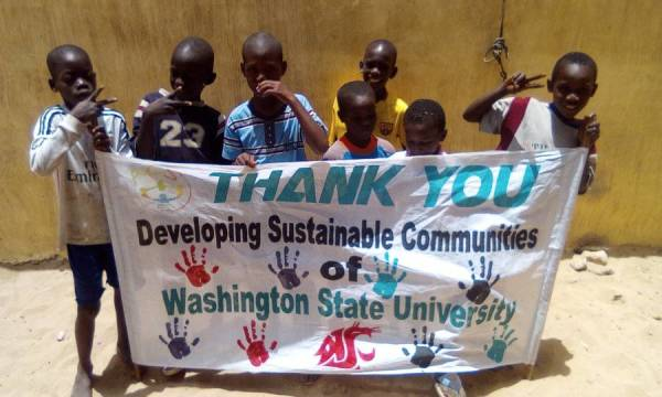 A Thank You to WSU club, Developing Sustainable Communities
