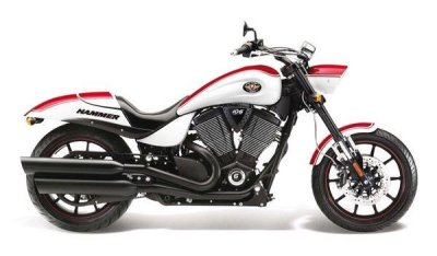 Victory motorcycle shuts down.