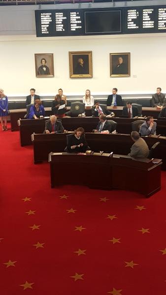 Senator Waddell reads her Women's History Month senatorial statement