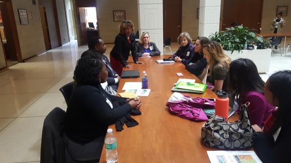 Senator Waddell meets with the School Nutrition Association