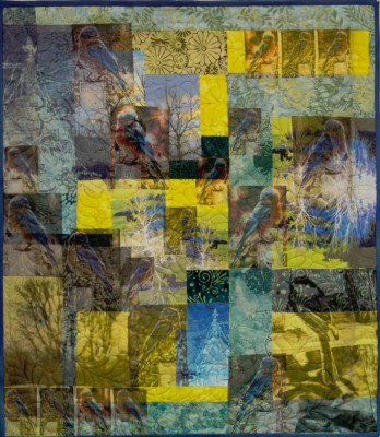 Art quilt ,photo collage quilt