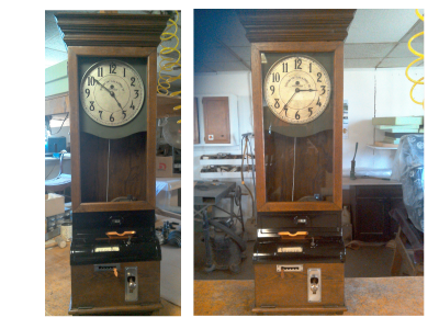 Clock, before and after