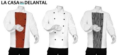Saco de Chef con Pechera Reversible