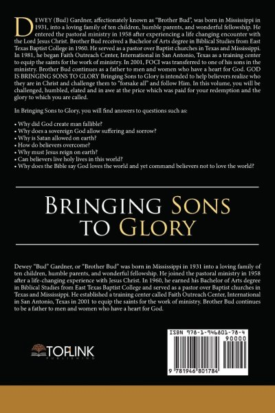 Bringing Sons to Glory (Back Cover)
