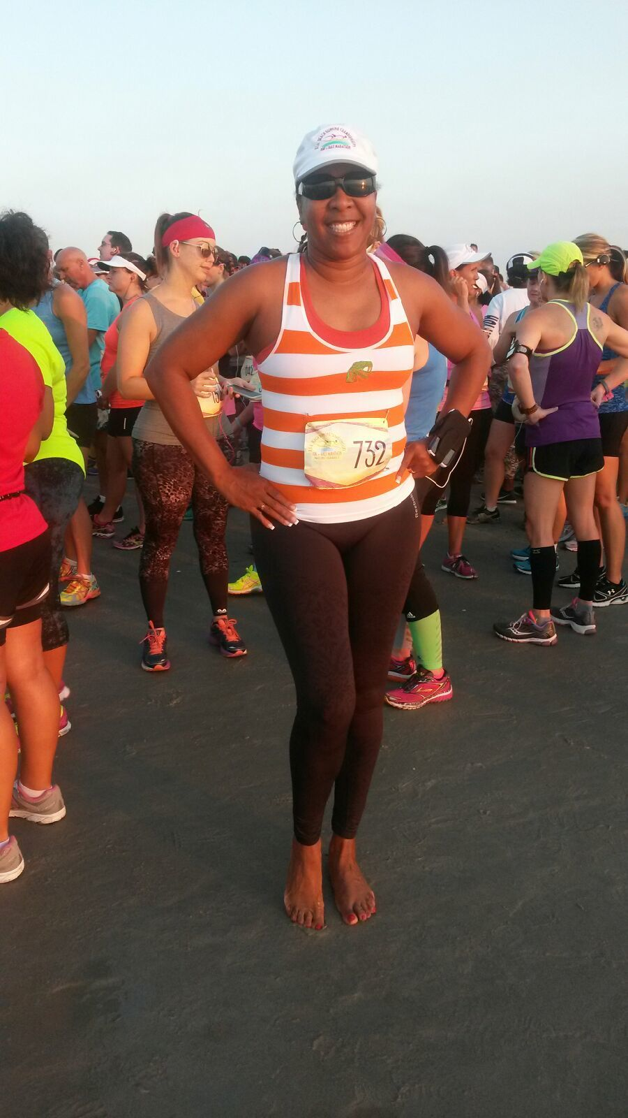 Annette Watson-Johnson Participating in a local 5k