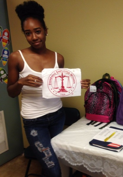 Octavia Cosby Volunteering in the #BackPackGiveBack