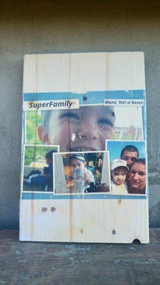 Foto pe lemn vintage - colaj de poza