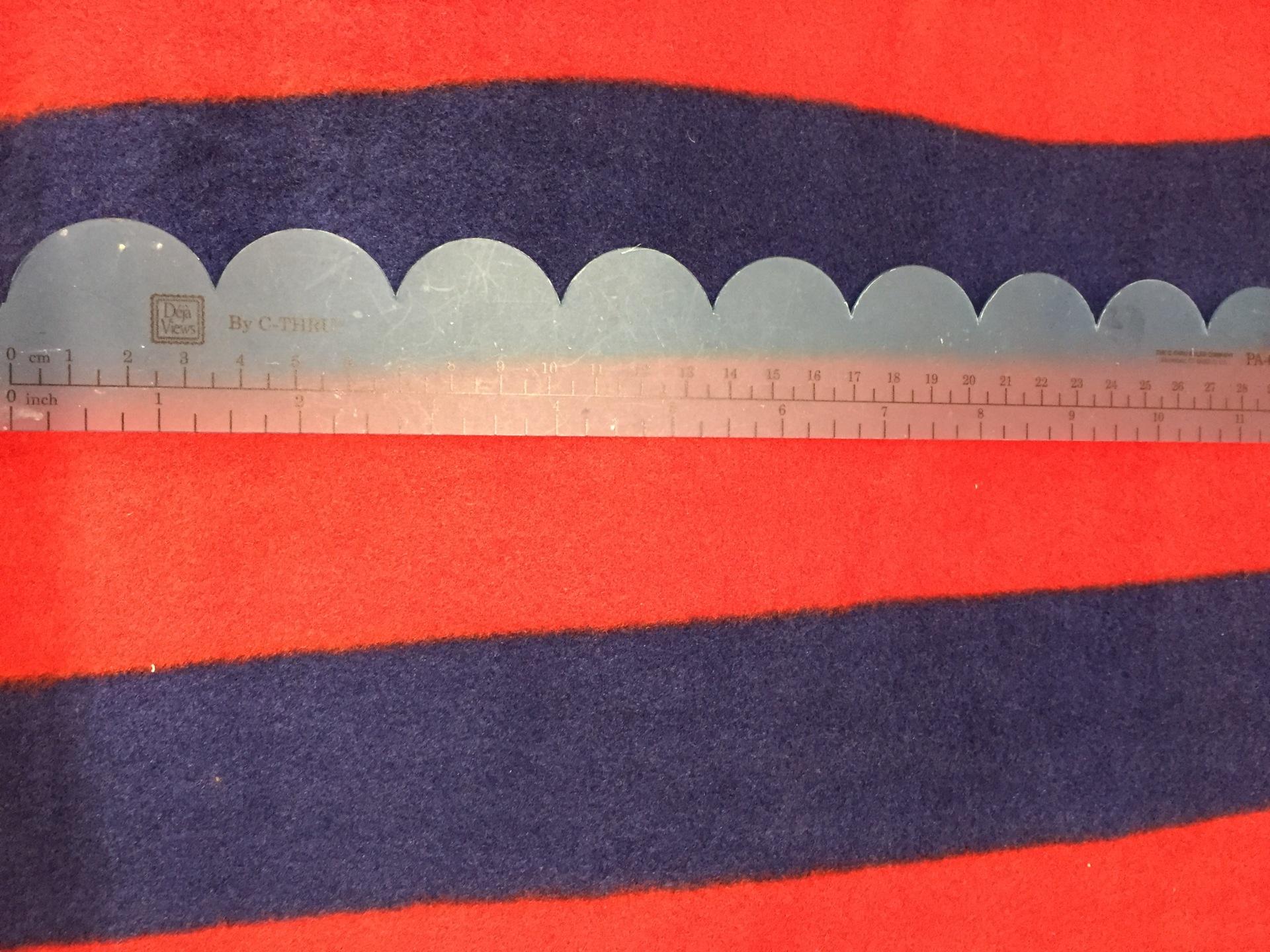 033 Blue Red Stripes - Fleece