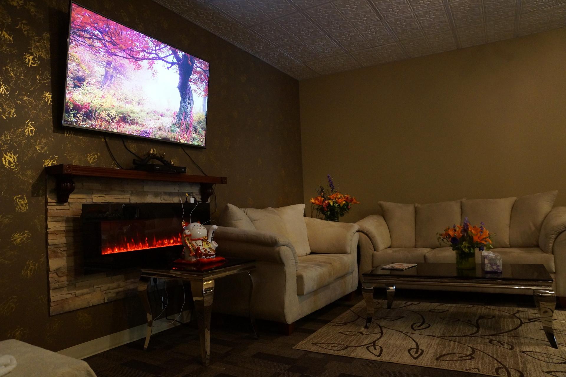 massage, spring wellness, fireplace
