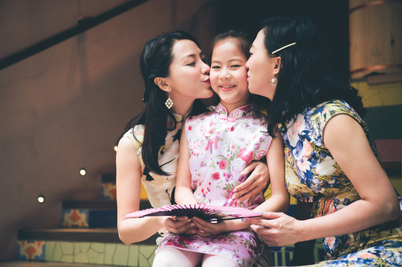 Iris Family QiPao @ Central