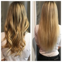 Keratin Bonded extensions los angeles